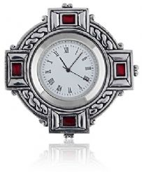 Celtic Cross Enamel Clock